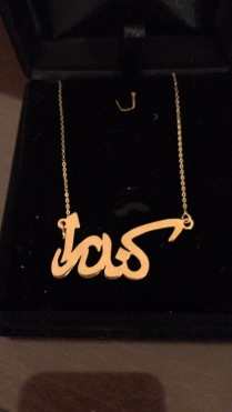 A gold necklace from my mother-in-law